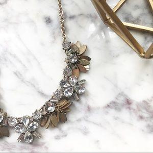 J. Crew • Floral Sparkly Statement Necklace